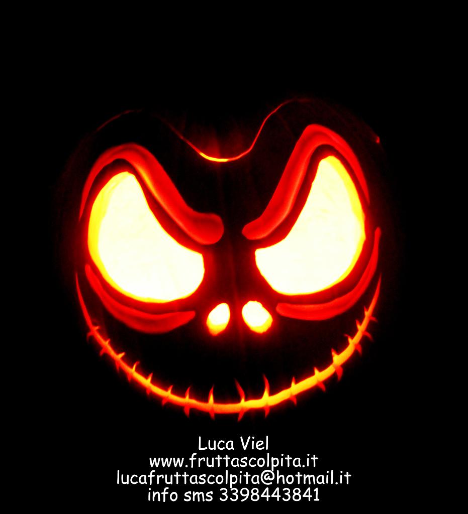 Facce Zucche Di Halloween.Zucche Di Halloween Originali Frutta Scolpita Luca Viel Docente